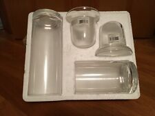Yankee Candle Clear Cylinders Votive Candle Holders Set Simple Elegant Decor