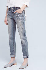 NWT Anthropologie Pilcro Hyphen Bejeweled Mid-Rise Jeans - size 28