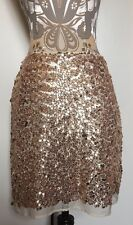 Lovers Wonderland Gold Sequin Skirt Size S