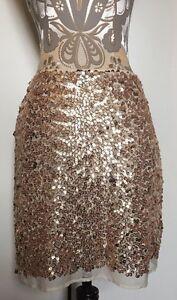 Lovers Wonderland Gold Sequin Skirt Size S