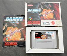 RARE Darius Twin PAL Version SNES Super Nintendo Vintage Game Cartridge Complete
