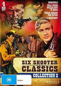 Six Shooter Classics Western : Vol 2 (DVD,  4-Disc Set) R-4/ ALL - NEW FREE POST