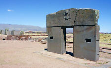 Enmarcado impresión Tiwanaku Puerta del Sol (imagen Lago Titicaca Antigua Aliens)