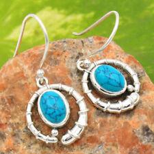 Handmade Turquoise Sterling Silver Fine Earrings