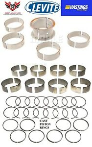 Chevy Chevrolet 327 350 68-95 Clevite Rod - Main Bearings Hasting Piston Rings