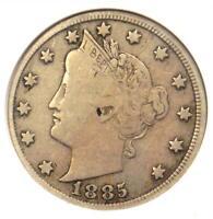 1885 Liberty Nickel 5C - ANACS F12 (Fine) - Rare Key Date Coin - $800 Value!