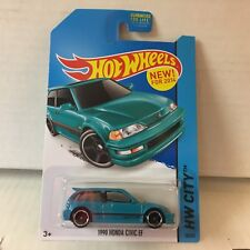 1990 Honda Civic EF #30 * Teal * 2014 Hot Wheels * NB30