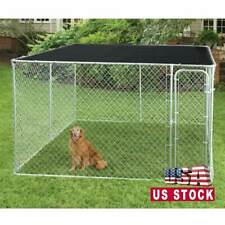 10x10ft Cover Shade Cage Shelter UV Rated Grommet Outdoor Black Dog Kennel House