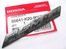 1x HONDA STICKER PGM-FI FUEK INJECTION T1 EMBLEM LOGO BLACK MARK 86641-K20-900ZB