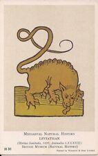 Leviathan, Fantasy, Medieval Natural History, 1920s, British Museum London 1491