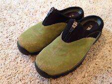 Womens Teva Sheeba Clog Mule Shoe Green Suede Leather US 8.5 EU 39.5 #6447