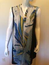 Halogen Print Modal Silk Wrap fringe Scarf  $59 New