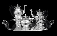 LAGRIFFOUL & LAVAL NAPOLEON III (EMPIRE) FRENCH ANTIQUE STERLING SILVER TEA SET
