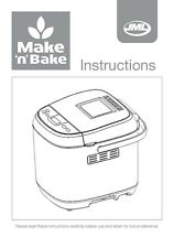 John Mills Make n Bake Bread Machine Owners Manual