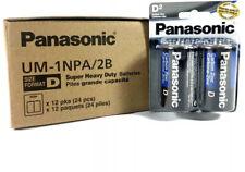 24 Wholesale D Panasonic Battery Batteries super heavy duty Bulk Lot 12x2