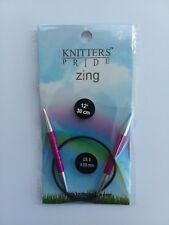 Knitters Pride Zing 12 inch (30 cm) Circular Knitting Needles