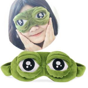 Cute Soft Padded Sleep Mask 3D Sponge Eye Cover Travel aid Rest Blindfold Shade.