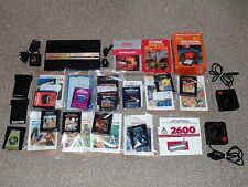 Atari Junior Rainbow Console & 16 Games with Manuals & Boxes Lot Tested Working