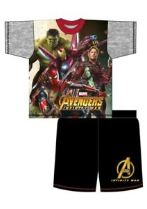 Boys Character Shorts Avengers Infinity War Pyjamas Nightwear PJ's Hulk