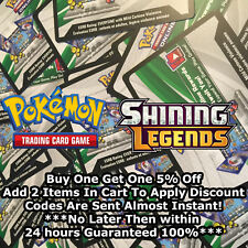 50x Shining Legends Pokemon TCGO PTCGO TCG Online Codes Cards Almost Instant