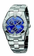 Roberto Cavalli R7253616035 Silver Tone Blue Chronograph Dial Mens Swiss Watch