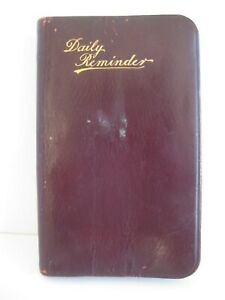 Antique Daily Reminder 1905 Day Planner