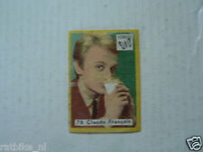 VL2-76 VLINDER LUCIFERS,MATCHBOX LABELS MOVIE MUSIC STARS CLAUDE FRANCOIS