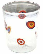 Bicchiere Goto Veneziano Murrine Millefiori Murano Glasses Made in Italy VE