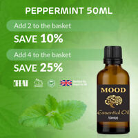Essential Oil Pure 50ml Aromatherapy Natural Oils Peppermint Organic Fragrances
