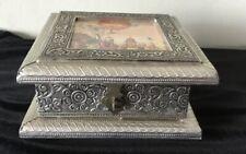 Beautiful Silver Tone Indian Jewellery Box