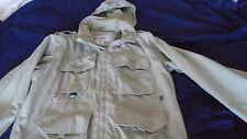 COLUMBIA Mens Size XL Convertible Packable GRT Jacket KHAKI Fish Field Hike Trek