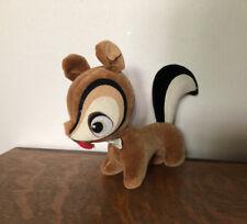 Vintage 60s Dakin Dream Pets Squirrel Animal Velveteen Plush Made In Japan