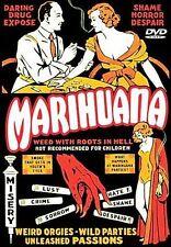 Marihuana DVD Classic Propaganda Movie Drugs Sex Nudity Lust LIKE NEW Fast Ship