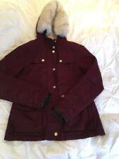 TopShop Winter Jacket Uk:6 Burgundy