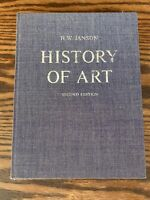 HISTORY OF ART BOOK 2nd Edition HW Janson Vintage 1978 Illustrated