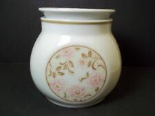 Noritake sugar bowl Younger Image china ANTIGUA 1970s pink flowers brown leaves