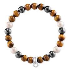 Thomas Sabo Charm-Armband Damen Perlenarmband X0218-948-2 Größe L