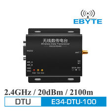 2.4G E34-DTU-100 nRF24L01P 100mW 2.5km DTU RS232 RS485 Wireless Data Transceiver