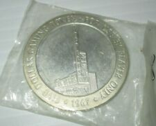 LAS VEGAS CLUB 1967 STERLING SILVER GAMING COIN TOKEN  FIVE DOLLAR COIN NEVADA