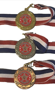 School Special Person Star 40 mm Emperor Sports Medal Optional Engraving