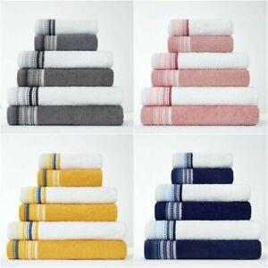 New 2pk Malton Egyptian Cotton Super Soft Absorbent Hand Bath Towels Bath Sheets