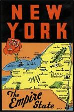 #704 (1) New York Statue of Liberty Luggage Label Travel Decal Sticker Repro