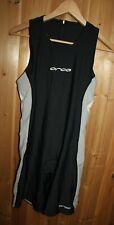 ORCA women 10 Triathlon Race Suit Singlet Bibs Shorts black gray