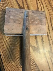 ANTIQUE WOOL CARDER SET! WOOD, POSSIBLY HAND MADE.