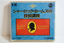 Sherlock Holmes Consulting Detective PC Engine CD-ROM 2 CD PCE NEC Japan Import