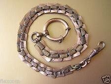 """Antike Uhrenkette Uhr Kette Taschenuhrkette """"Amerikaner D"""" Double 15,7 g/26,5 cm"""