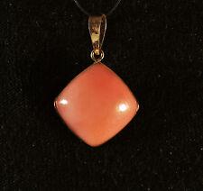 Pendentif cabochon Opale Rose sertie sur argent