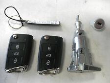 Original Schließsatz VW Golf 7 VII 5G0800375R Schloß Schlüssel Schließzylinder
