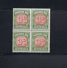AUSTRALIA  1946-57 POSTAGE DUE (SG D122) VF MNH block of 4