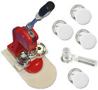 "1-3/4"" (44mm) Button/Badge Maker Press Machine+DIY Button+Cutter+100 FREE Button"